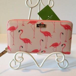 Kate Spade Flamingo Zip Around Wallet